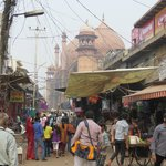 jama masjid in the middle of the market