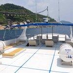 Sun deck on Pawara