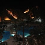 View from Room-pool by night
