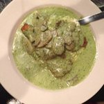 eggplant and veal Christina with a pesto cream gravy