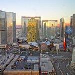 sunrise on City Center from room 3403