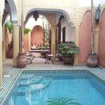 patio avec la piscine