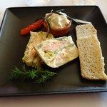 terrine de saumon aux poireaux