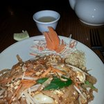 Pad Thai noodles from the fixed price two course menu.