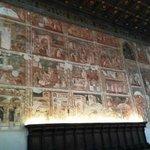 parete sud del coro della chiesa vecchia affresacata