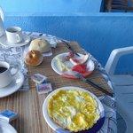 Omelett und Croque Monsieur gabs auch noch ....