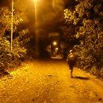 Nächtlicher Spaziergang (völlig ungefährlich) zurück zum Hotel