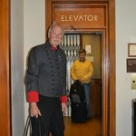 The elevator operator in the old section