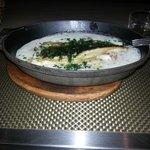 risoto com filé de peixe
