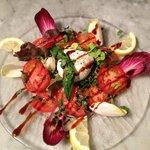 salade tomates et mozzarella di bufala