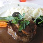 San Marco (Lausanne) - Tournedos Rossini with Risotto and vegetables