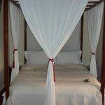 Comfortable bed, quiet room.