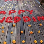 Happy Wedding! So special - each petal placed so sweetly and intentionally.