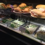Gourmet sandwiches and salads.