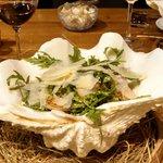 wonderful salad...dressing, shrimp ....best salad of my life