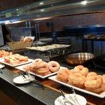 Donuts at breakfast  yum :-)