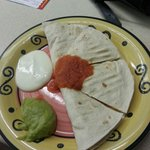 Chicken quesidilla. Portion size for a main was a bit inadequate. Could have had more.