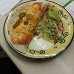 Chicken Enchilada. Was nice and more filling then the quesidilla but still an average taste and