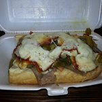 Combo sandwich  - Italian beef, Italian sausage, sweet peppers, hot giardiniera peppers and mozz