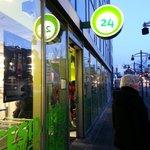 24 hr supermarket was near