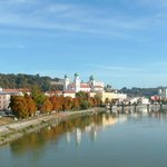 Looking over to the old part of Passau.
