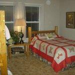 Pine siskin family bunk room