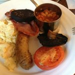 Best Full English Breakfast of our stay in the UK