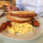 eggs + sausage