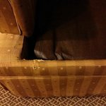 Couch in my room, I threw a sheet over it.