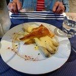 Asparagus appitizer at Chez Bruno