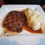 Steak  with mash potatoes