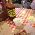 Sissy Sause:  Rudy's BBQ is no better than their spelling.