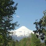 Vista del Volcán Villarrica