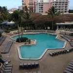 View of Marco Island Hilton pool area from 413