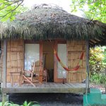 front of beach cabana