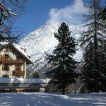 De l'hôtel aux pistes de ski