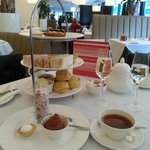 Delicious afternoon tea, with the peanut free extras at the front.