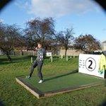 European Tour golfer David Lynn plays footgolf