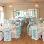 beautiful ball room set up for wedding breakfast