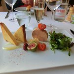 Fois gras...works very well with strawberry!