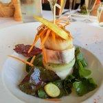 Wonderful scallop and fish starter