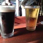con una buena cerveza