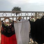 They have great laundry facilities, but these items I hung to dry.