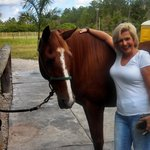 enjoying time with the Horses