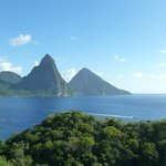 The Pitons from the Jade Mountain