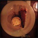 Dark chocolate, caramel & peanut tart