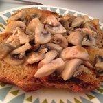 Yummy mushroom on toast