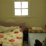 Twin Private Bedroom - The fake window (lights up the room) is adorable.