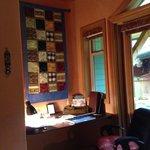 Desk alcove in Mediterranean Suite
