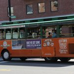 Pic of the tour bus prior to boarding Boston's Old Town Trolley Tours  |  200 Atlantic Ave., Bos